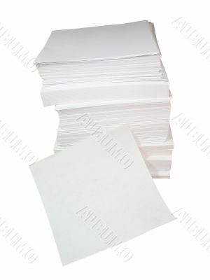 Pile of white office paper with empty place for text or image