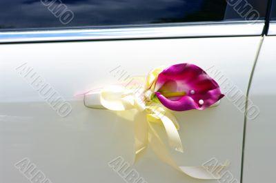 Door of wedding car