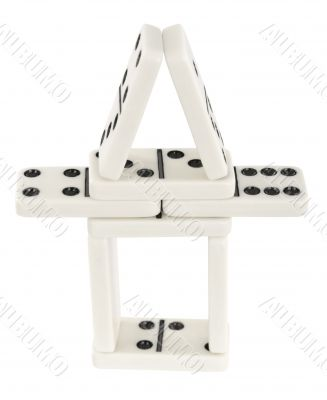Small tower made of dominoes bones