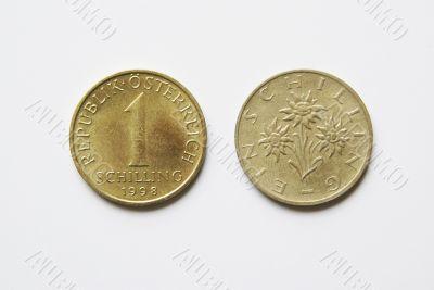 Austrian 1 Schilling coins