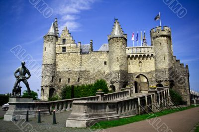 The Steen castle. Antwerpen