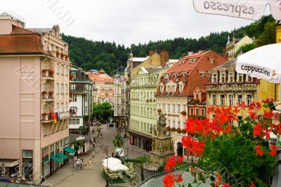Karlovy Vary. Central street