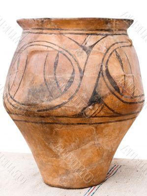 Antique hand-made ceramic jug
