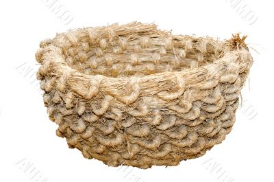 Big hand-made straw basket