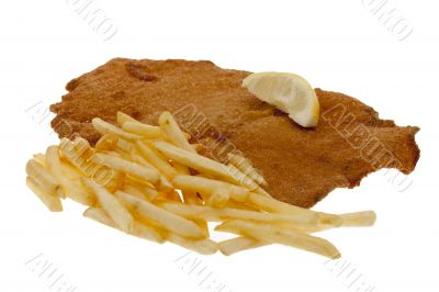 Viennese escalope with French fries