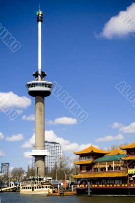 Euromast tower in Rotterdam