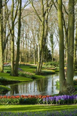 Scenic garden in Lisse Netherlands