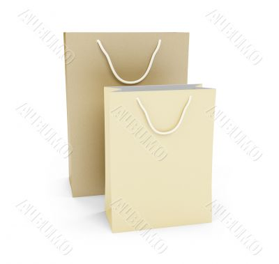 Gift bags isolated view
