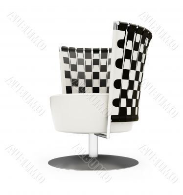 Design chair isolated view