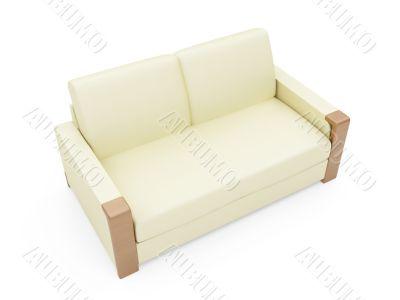 Sofa over white