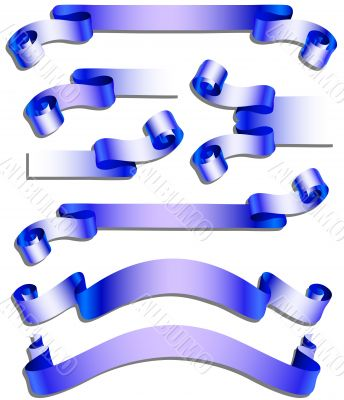 Collection of dark blue celebratory ribbons