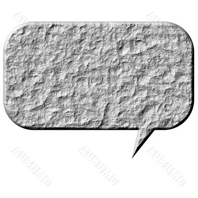 3D Stone Speech Bubble