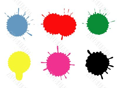 Colour blots. A set.