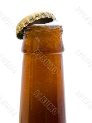 bottleneck of beer bottle