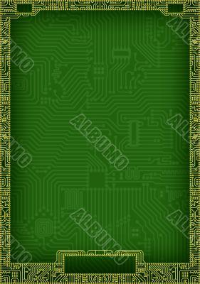 Hi-tech abstract circuit board blank frame
