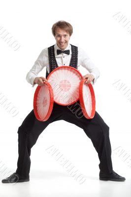 Juggler with his properties