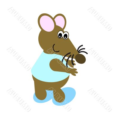 Cartoon of a Dancing Mouse