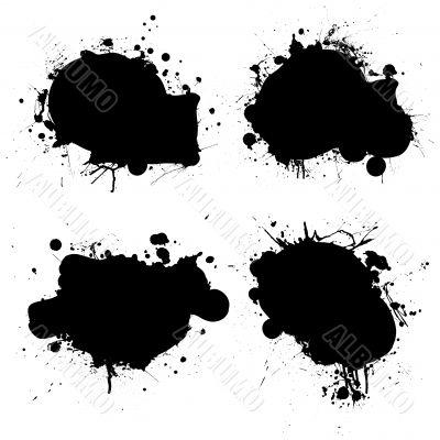 rounded ink splat black