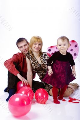 family of three people