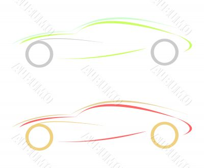 Stylized illustration of sport car