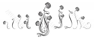 vector flower ornament