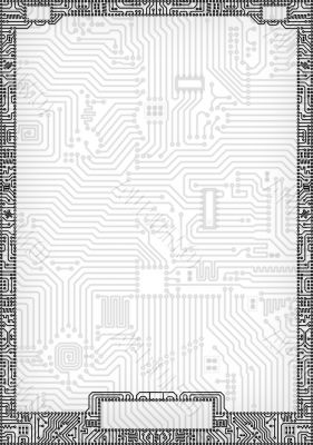 Hi-tech abstract circuit board blank frame