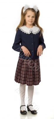 The cherry girl in a school uniform
