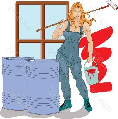 girl the house painter