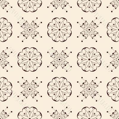 seamless pattern on beige background