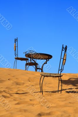 place to sit on the sand dune