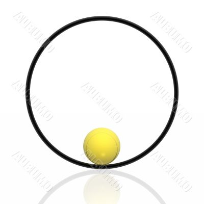 sphere and ring