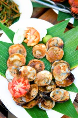 Grilled shell fish