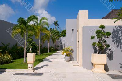 Yard of villa