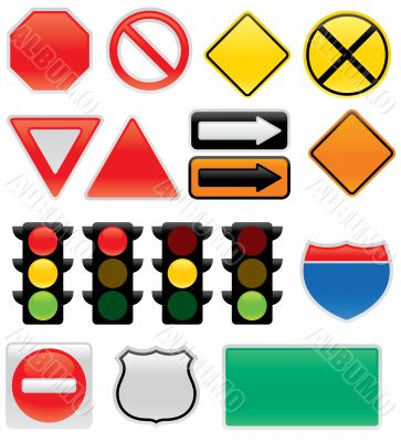 Traffic and Map Signs and Symbols