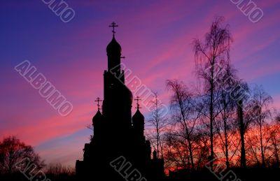 Temple Georgiya Pobedonosca at dawn
