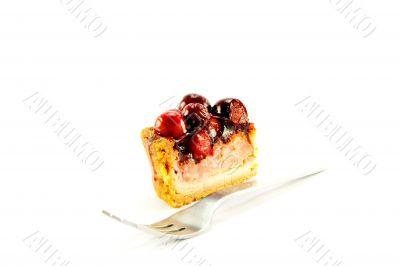 Slice of Pork Pie with Fork