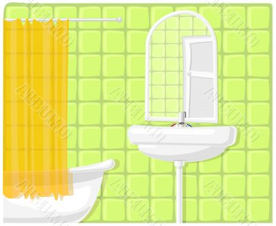 Vector illustration of bathroom