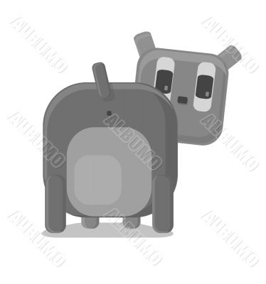 Vector illustration of funny dog