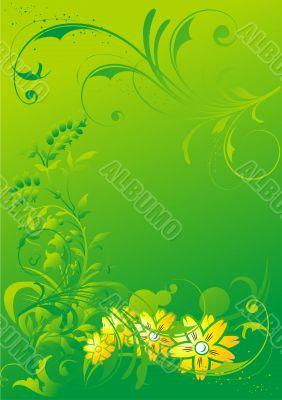 Abstract vegetative ornament
