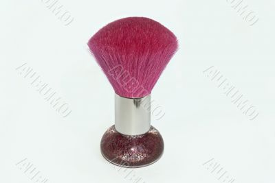pink makeup brush