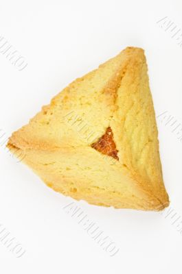 Hamantashen pastry with apricot