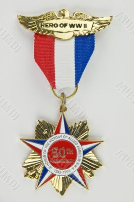 50th anniversary of World War II medal