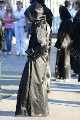 Street monk performance