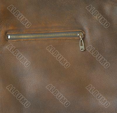 Leather jacket pocket