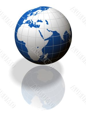 3D model of planet earth