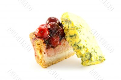 Slice of Pork Pie with Blue Cheese