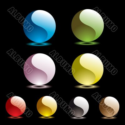 gel round black glow