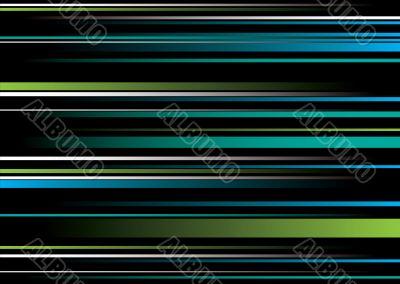 band green blue overlap