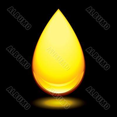 amber droplet black