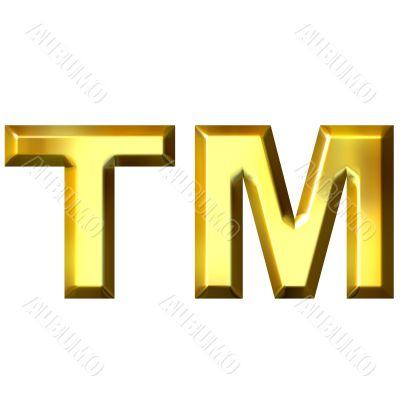 3D Golden Trademark Symbol